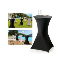 Housse noire pour table haute pliante mange debout
