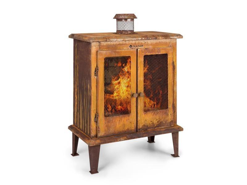 Blumfeldt flame locker braséro / cheminée décorative - foyer 58 x 30cm - design acier vintage GDI11-Fire-Locker