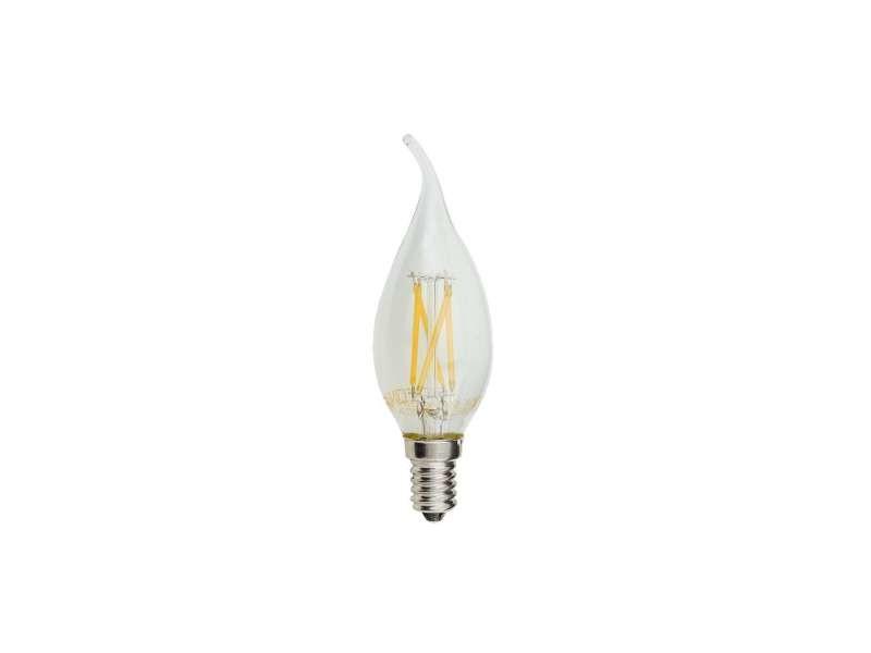 Ampoule led e14 4w (30w) filament flamme coup de vent - blanc du jour 6000k SP1480