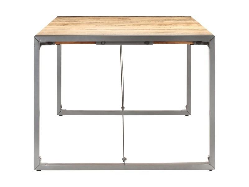 Vidaxl table à dîner 180x90x75 cm bois de manguier massif brut 321564
