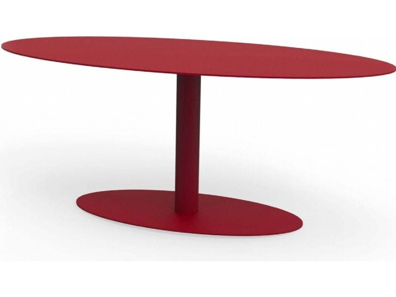 Table basse ovale metropolitain rouge pourpre TaA_MET_ova_h45_Pou