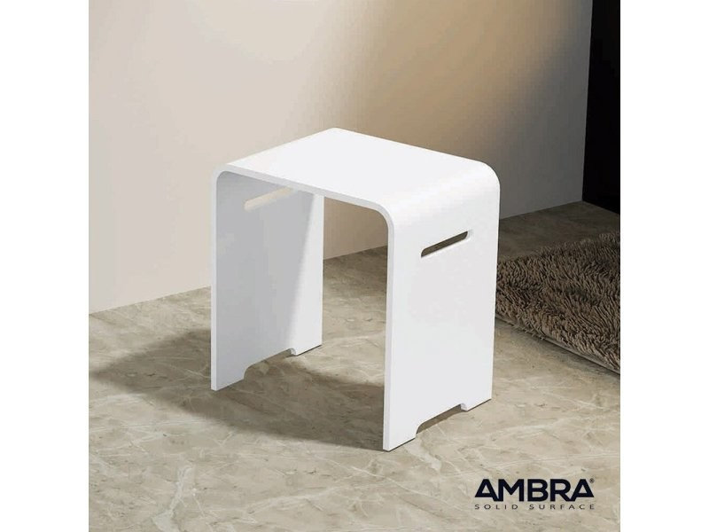Tabouret salle de bains kento en solid surface - Vente de ...
