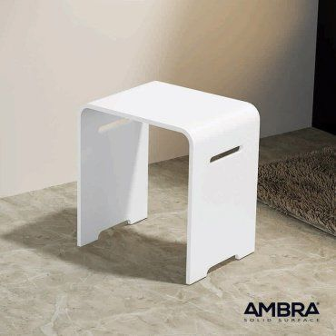 tabouret salle de bains kento en solid surface vente de ambra conforama. Black Bedroom Furniture Sets. Home Design Ideas