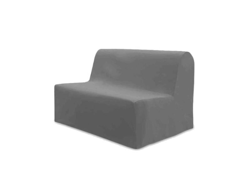 Housse de bz unie gris clair dos nu 140 cm