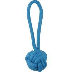 Jouet pour chien - corde 1 nœud 16 cm - bleu