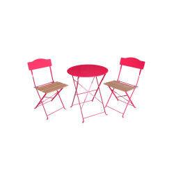 Salon de jardin helena - 2 place - framboise