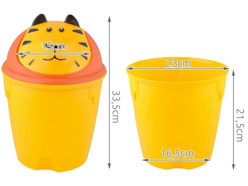 poubelle animal salle de bain et chambre enfant tigre vente de monmobilierdesign conforama. Black Bedroom Furniture Sets. Home Design Ideas