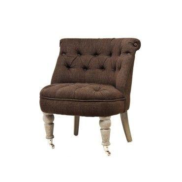 fauteuil crapaud capiton facon lin marron vente de ego design conforama. Black Bedroom Furniture Sets. Home Design Ideas