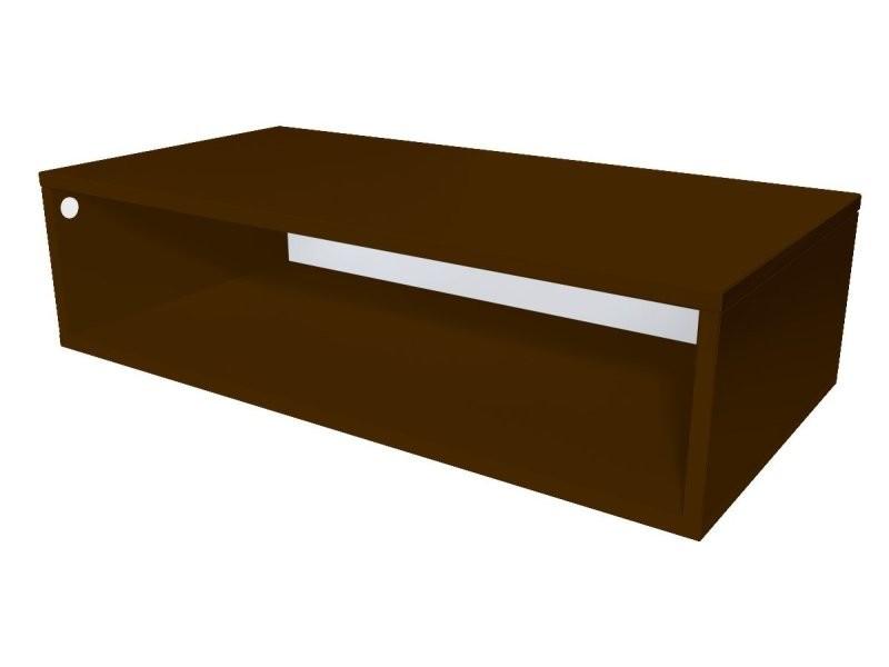 Cube de rangement bois 100x50 cm wengé CUBE100-W