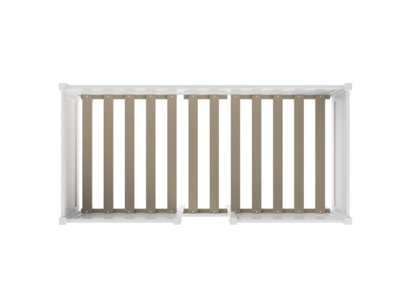 lit sur lev enfant blanc avec rangement lit sureleve school caisson blanc conforama. Black Bedroom Furniture Sets. Home Design Ideas