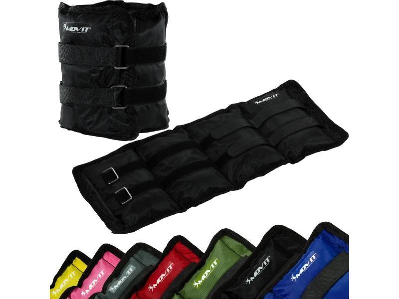 Movit® poids de cheville et de poignet jaune de 2x0,5kg à 2x4,0kg - couleur : noir 2x3,0kg