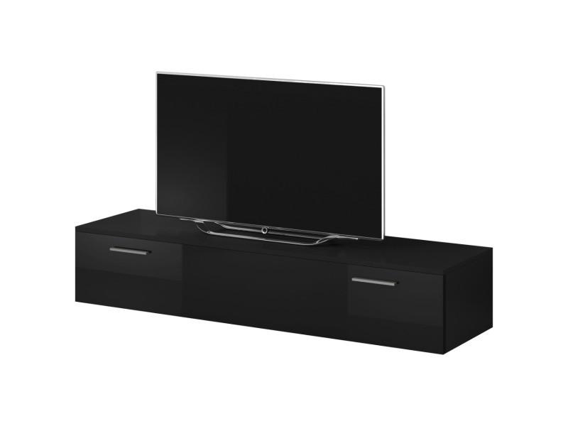 """E-com - Meuble TV """"Boston"""" - 150 cm - noir TVU107150BBHG"""