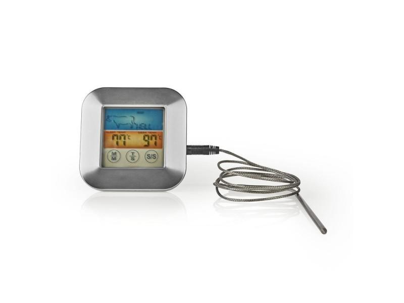 Thermomètre à viande | 0 - 250 °c | écran couleur | minuteur