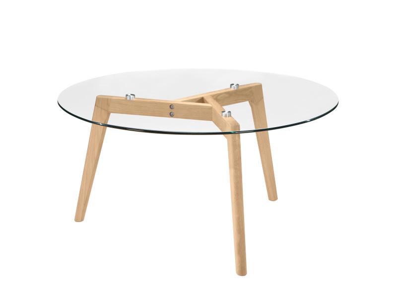 Table basse ronde bilto vente de table basse conforama - Table basse ronde conforama ...