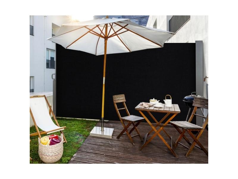 paravent ext rieur r tractable 300x180cm noir store vertical vente de id market conforama. Black Bedroom Furniture Sets. Home Design Ideas