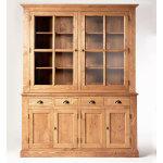 Buffet vaisselier bois, 6 portes 4 tiroirs     n165-bois