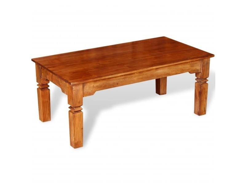 Vidaxl table basse bois massif 110 x 60 x 45 cm 244047
