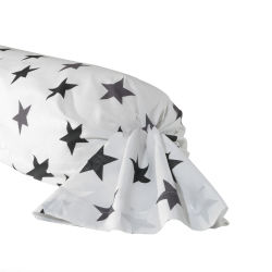 Cotonflor - taie de traversin figaro blanc - 85 x 185 cm