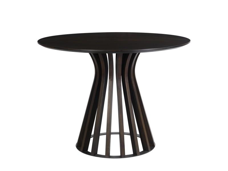 Table ronde colette ∅110 cm en bois de manguier