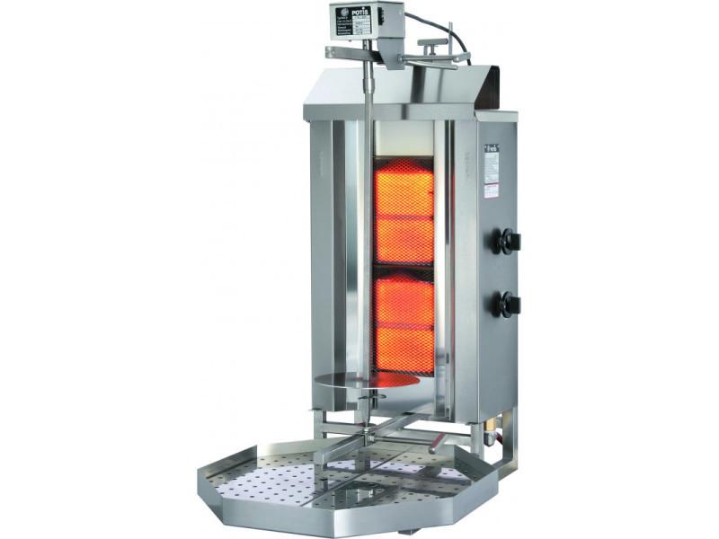 Döner kebab professionnel à gaz 30 à 120 kg - stalgast - acier inoxydable30 kg