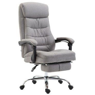 Fauteuil de bureau ergonomique en tissu gris clair avec for Sedute da ufficio