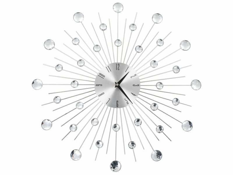 Horloge murale avec mouvement à quartz design moderne 50 cm dec022273
