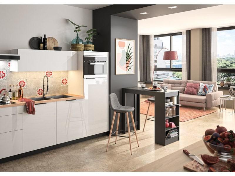 A-cocoon table et chaises - noir et béton - gris anthracite