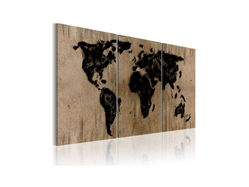 tableau carte du monde en encre 020113 70 vente de. Black Bedroom Furniture Sets. Home Design Ideas