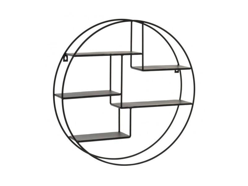 Etagere Murale Ronde Metal Noir Diametre 50cm Vente De