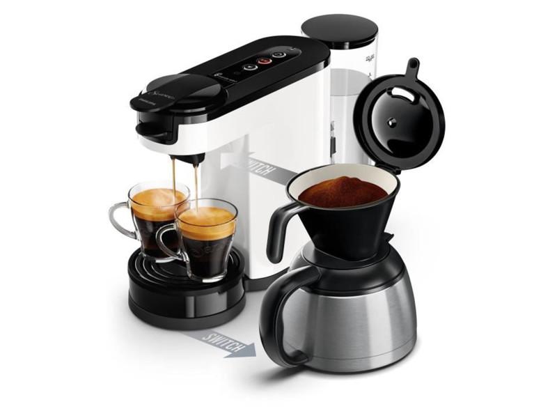 Senseo hd6592/01 machine a cafe a dosette ou filtre switch verseuse 5631