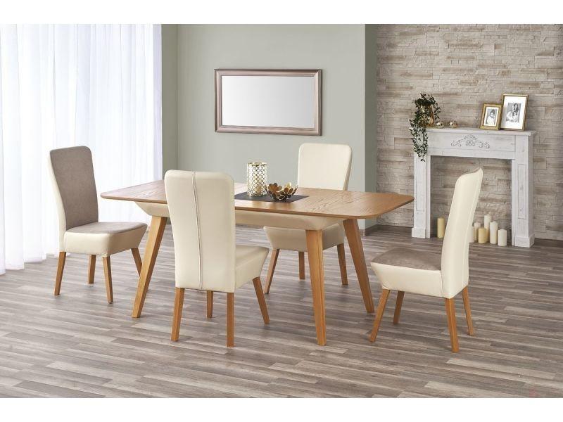table a manger rectangulaire extensible l 140 190 cm. Black Bedroom Furniture Sets. Home Design Ideas