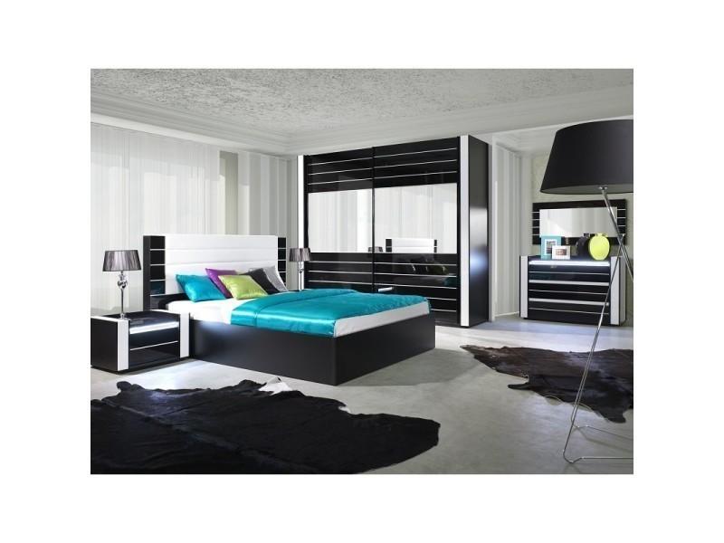 Ensemble Design Pour Chambre A Coucher Lina Noir Lit 2