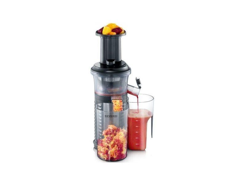 Severin centrifugeuse extracteur de jus multifonctions glace 150w noir/inox 1l 59trs/min anti - goutte