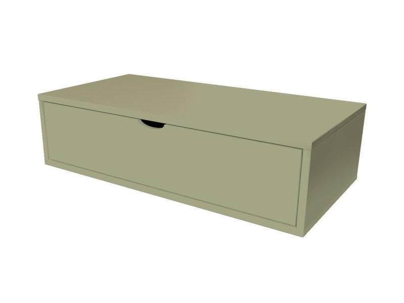 Cube de rangement bois 100x50 cm + tiroir taupe CUBE100T-T