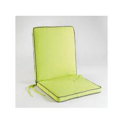 Coussin de fauteuil 90x42x5cm bicolore garden menthe/anthracite