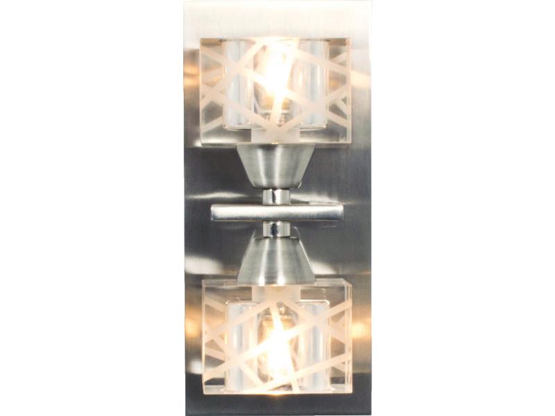 Applique zen argente metal verre vente de laurie lumiÈre conforama