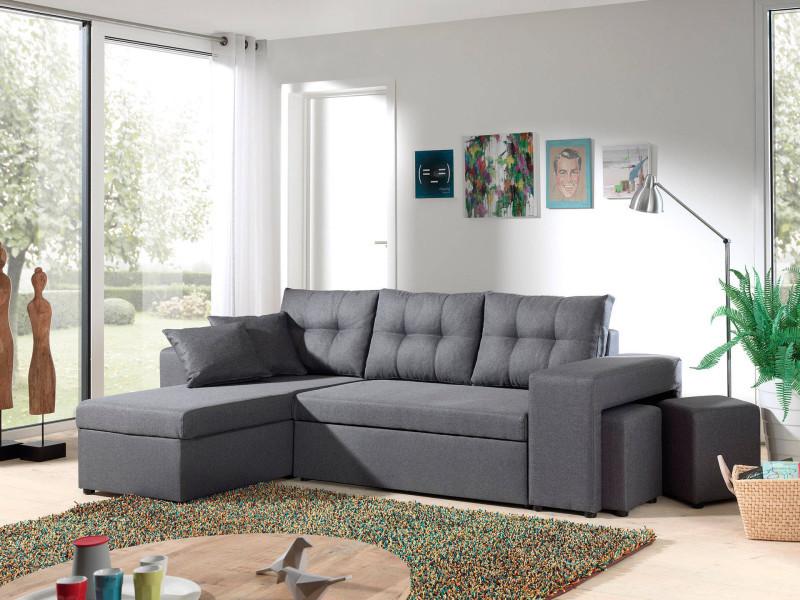 california canap d 39 angle r versible et convertible avec coffre de rangement 246x85x145cm. Black Bedroom Furniture Sets. Home Design Ideas