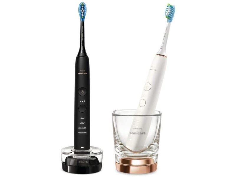 Pack 2 brosse à dents électrique connectées noir blanc