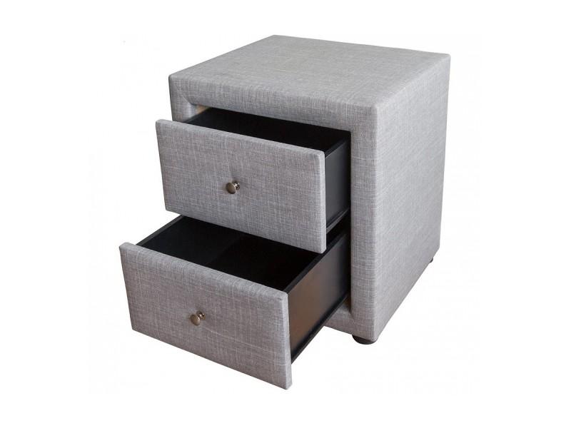 Table De Chevet Gris Tissu 1749 Vente De Homestyle4u Conforama