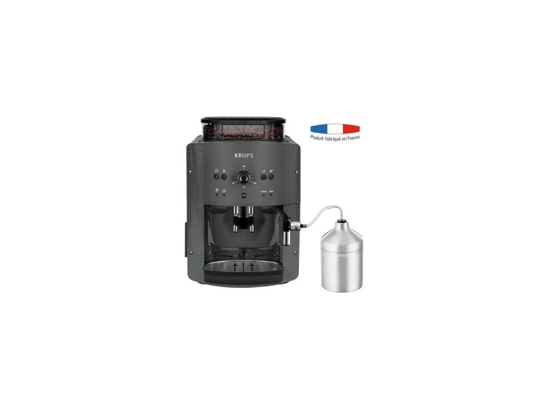 Krups yy4451fd machine a café automatique avec broyeur a grains essential avec mousseur a lait - pression 15 bars - grise KRUYY4451FD
