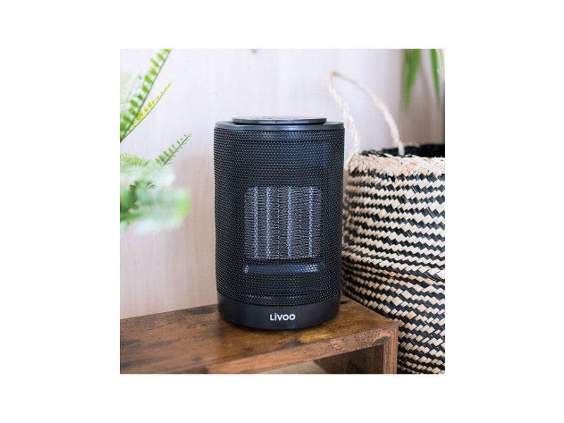Chauffage et ventilateur céramique compact noir