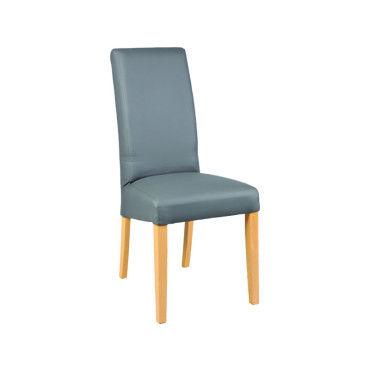 Lot de 6 chaises en hêtre et polyuréthane coloris gris dim