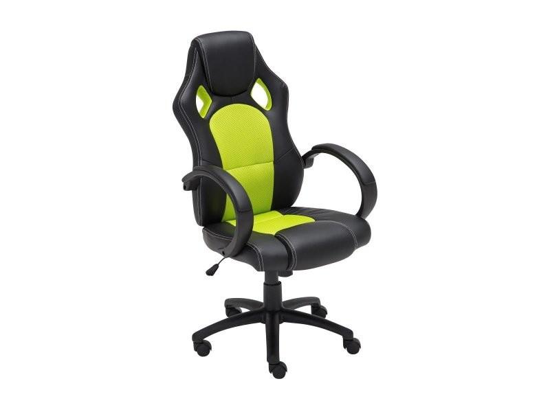 Fauteuil chaise de bureau confortable hauteur réglable en similicuir