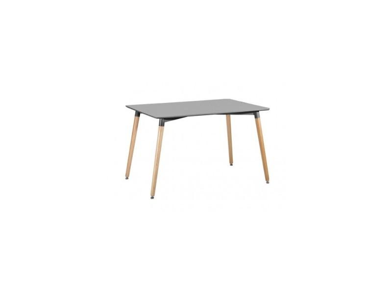 Table à manger rectangulaire gris 120 cm elementary
