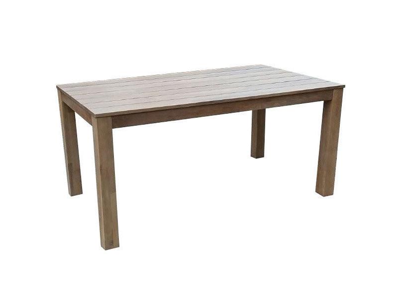 Table en robinier biege avec pieds droits l.160cm zanzibar - Vente ...