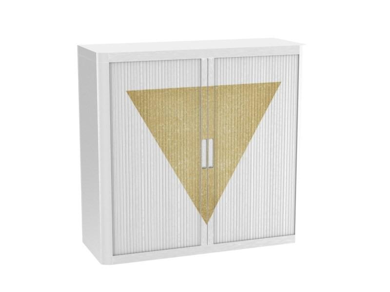 Armoire de bureau métalique porte coulissante h 1m - bermudes