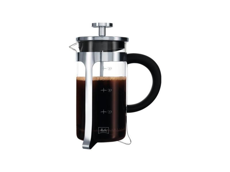 Cafetiere a piston micro-ondable premium en verre et inox 3 tasses MEL3557880000400