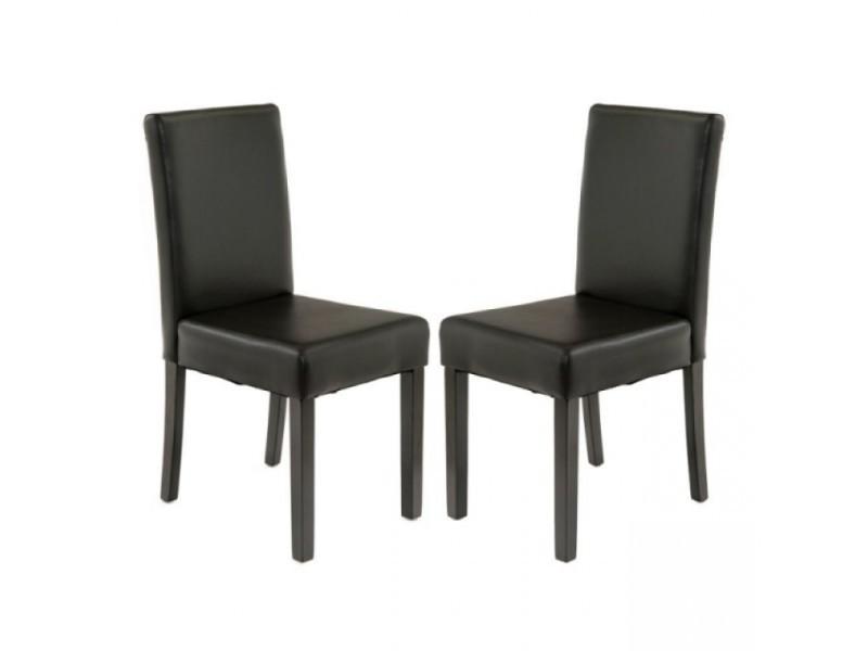 2 chaises lorenzo marron facon bycast haute qualite vente de ego design conforama. Black Bedroom Furniture Sets. Home Design Ideas