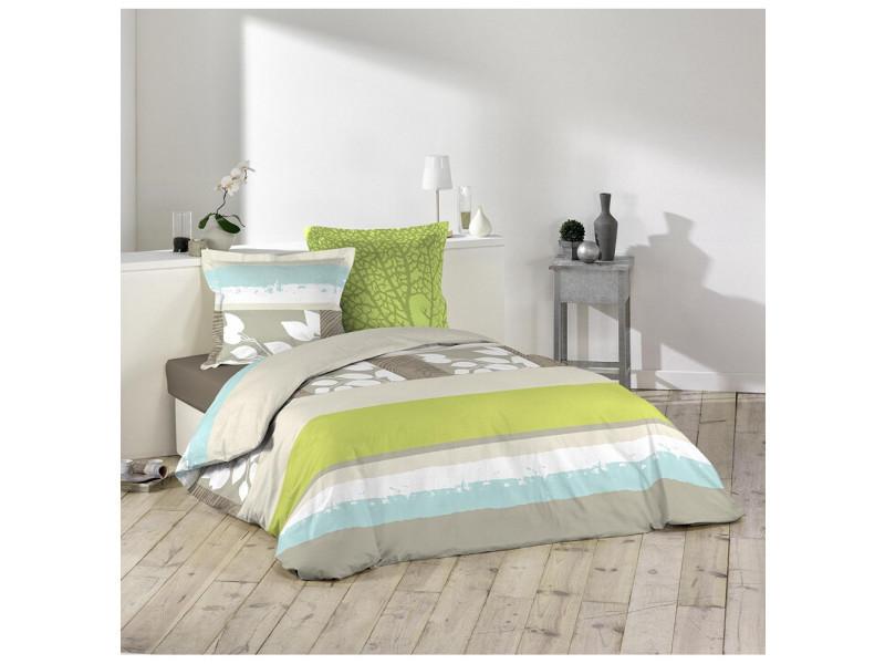 parure housse de couette 240 x 220 cm naturaly vente de parure de lit 1 personne conforama. Black Bedroom Furniture Sets. Home Design Ideas