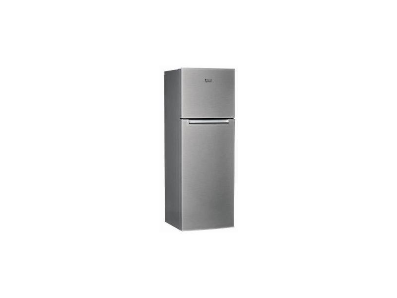 Hotpoint htm1722v -refrigerateur congelateur haut-300 l 226+74 l -froid brasse et statique congelateur-a+-l 60 x h 170 cm-inox HOTHTM1722V